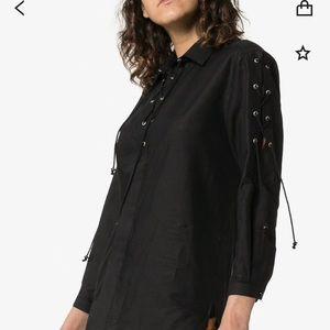 Saint Laurent lace up shirt
